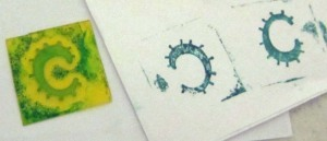Spring Arts Guild rubber stamp class March 2011