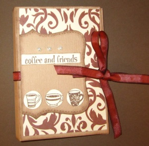 coffe gift card holder front
