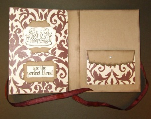 coffe gift card holder inside